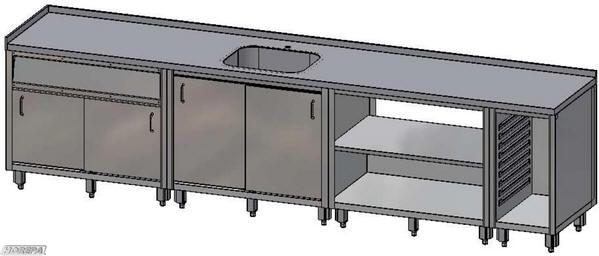 Zelf Keuken Maken Goedkoper : Afbeelding van een opstelling van Multiline keukenunits basic