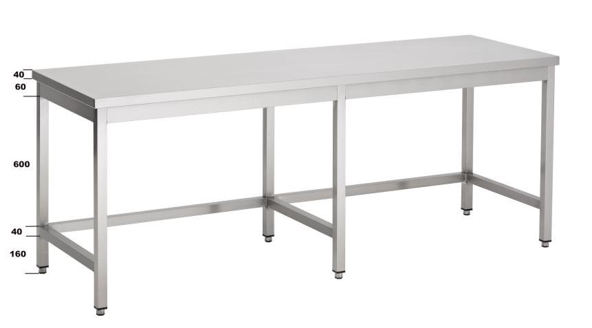 Ikea Hoge Tafel : Rvs tafels tafels met open onderstel met verbindingbalken
