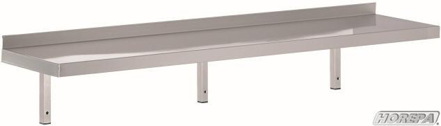 Keuken Rek Rvs : RVS wandschappen en wand planken met vaste of verstelbare steunen 300
