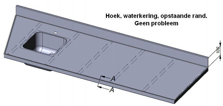 Standaard Rvs Keukenblad.Werkblad Op Maat Gemaakt Rvs Werkbladen